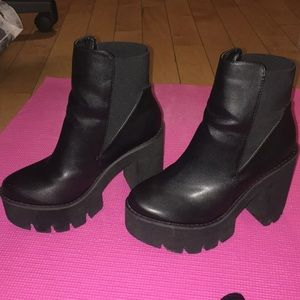 Missguided Platform Ankle Boot Heels